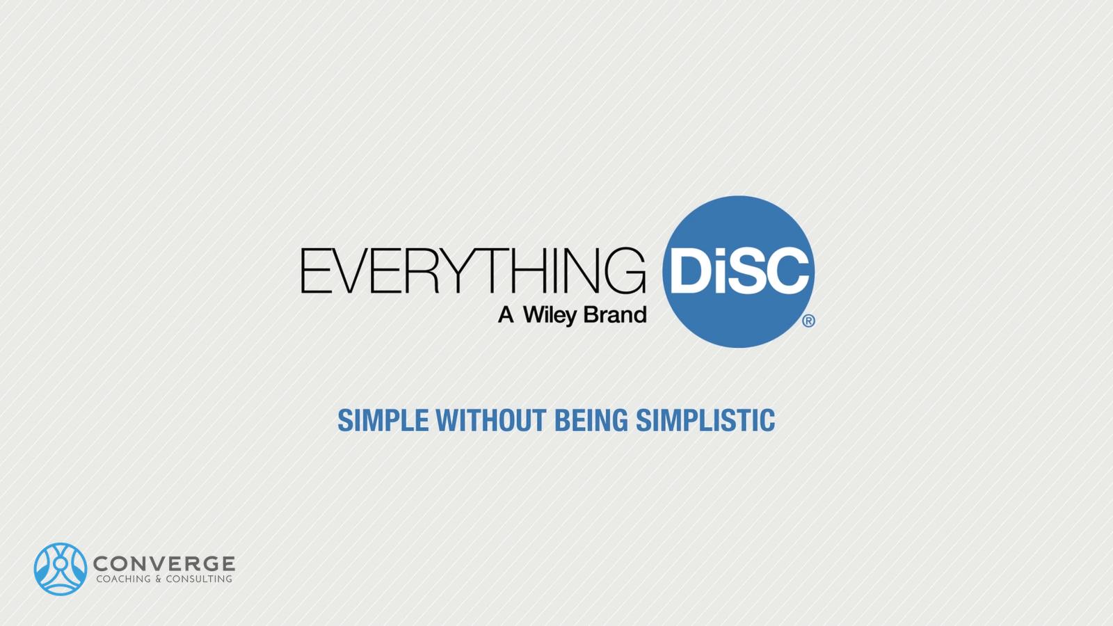 Everything DiSC video splash page