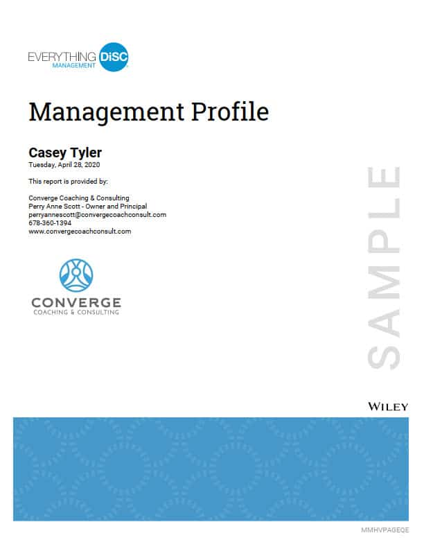 Management Profile cover page