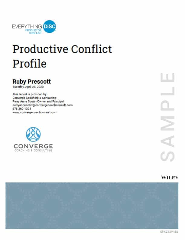 Productive Conflict Profile cover page