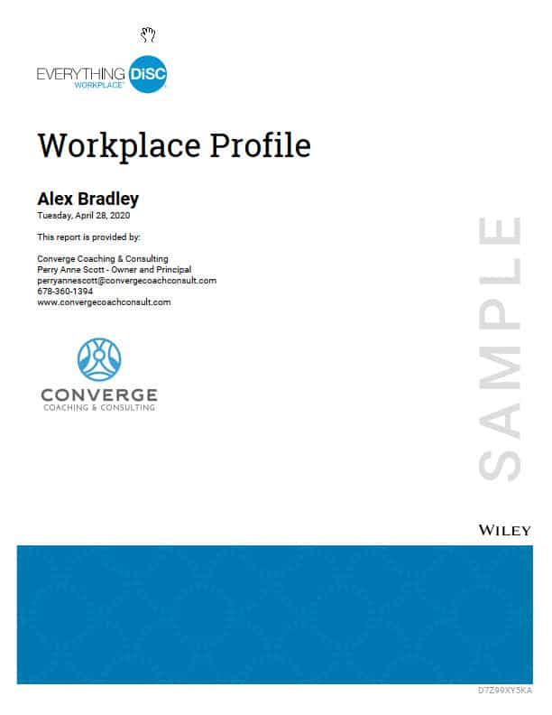 Workplace Profile cover page